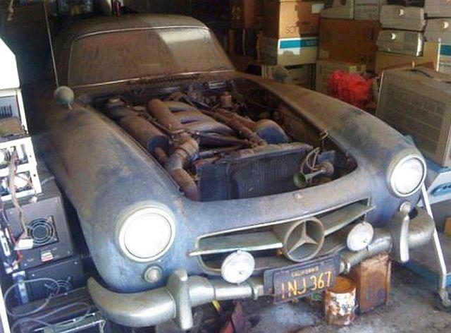 Эксклюзивный Mercedes обнаружили в гараже спустя 40 лет