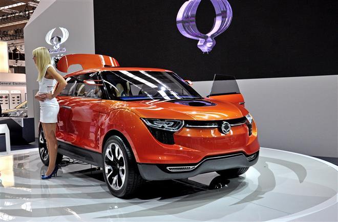 Концепт-кар Ssangyong XUV 1 блеснет дизайном на Франкфуртском автошоу