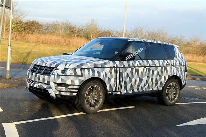 Новые шпионские снимки Range Rover нового поколения