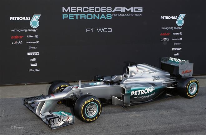 Mercedes представит гоночный авто W03