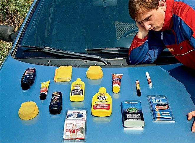 Чем убрать мелкие царапины на машине своими руками видео